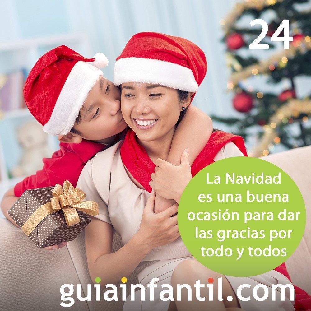 24- La gratitud. Uno de los grandes valores de la Navidad