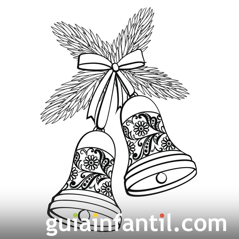 Dibujo de campanas para anunciar el año nuevo