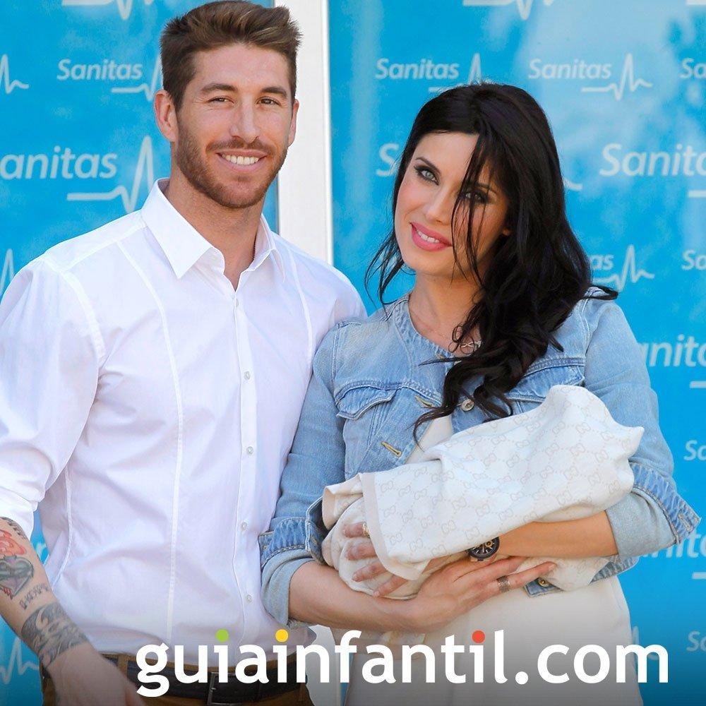 Sergio Ramos y Pilar Rubio también se estrenan como padres