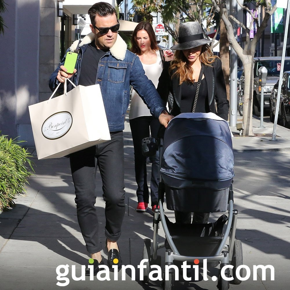 Robbie Williams, feliz con su segundo hijo