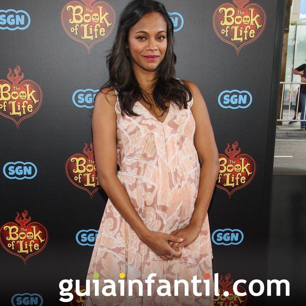 Zoe Saldana embarazada de su primer bebé
