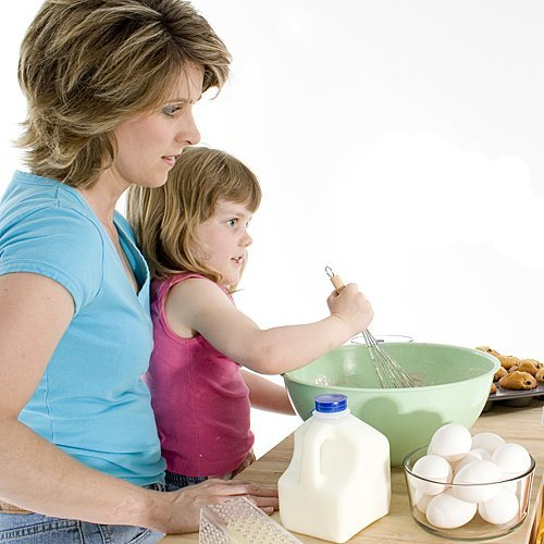 En la cocina en el Día de la Madre