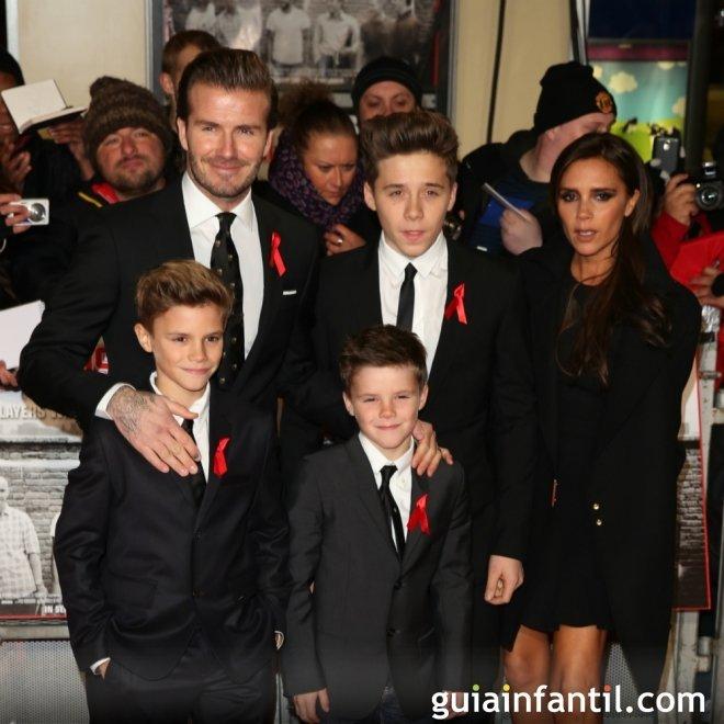 Los nombres de los hijos de David y Victoria Beckham