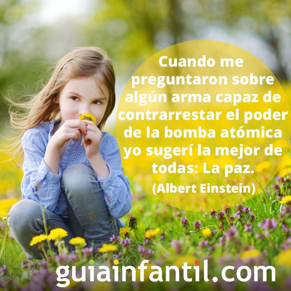 La paz según Albert Einstein