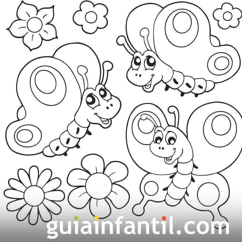 Mariposas para dibujar e imprimir
