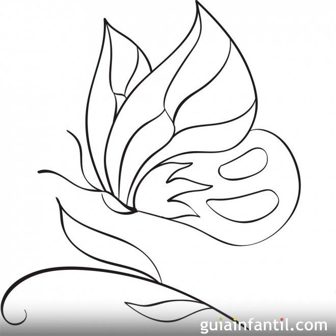 Dibujo para colorear de una mariposa