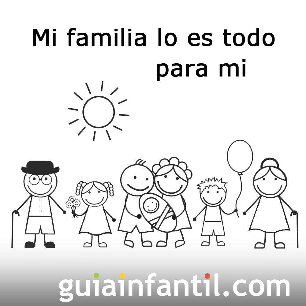 Postales Para Imprimir Y Colorear De La Familia