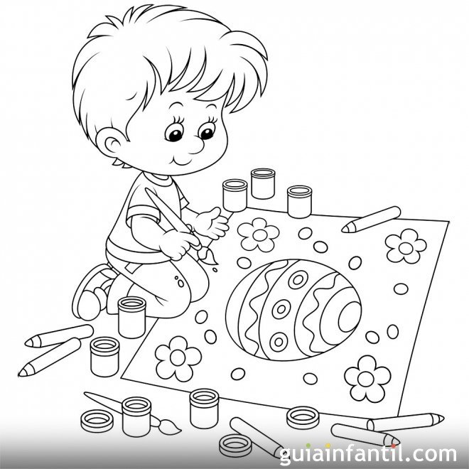 Snap Dibujos para colorear: Dibujos para colorear Conejitos pintando ...