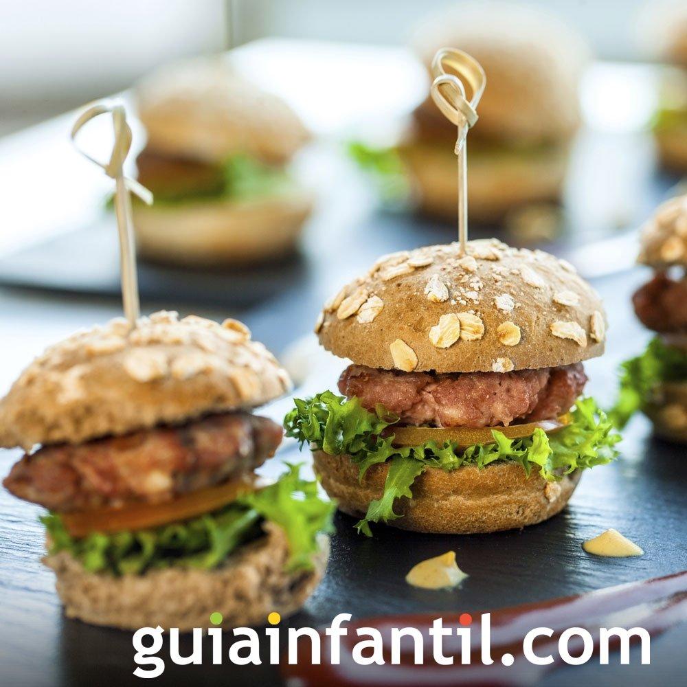 Aperitivo de mini hamburguesas para los niños