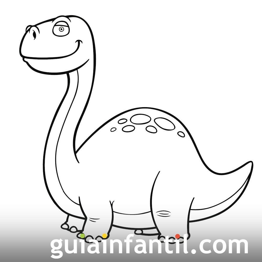 Dibujo De Brachiosaurus Para Pintar