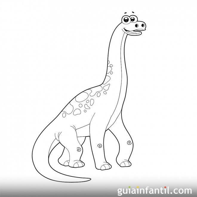 Dibujo de Diplodocus para niños