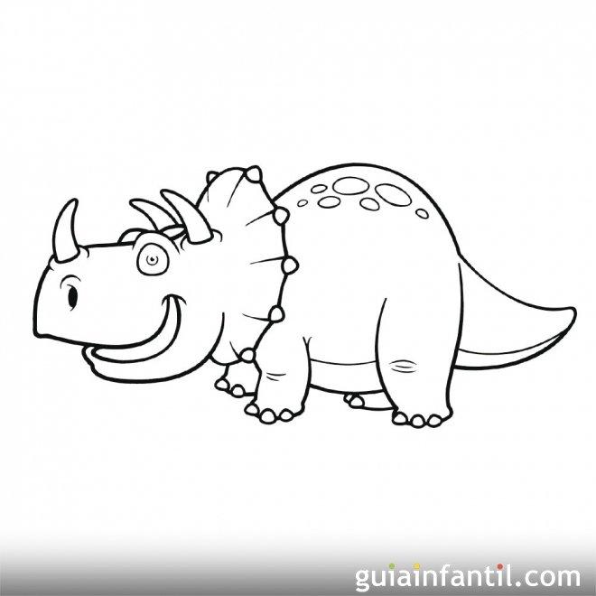 Dibujo de triceratops para ni os - Bebes dibujos infantiles ...