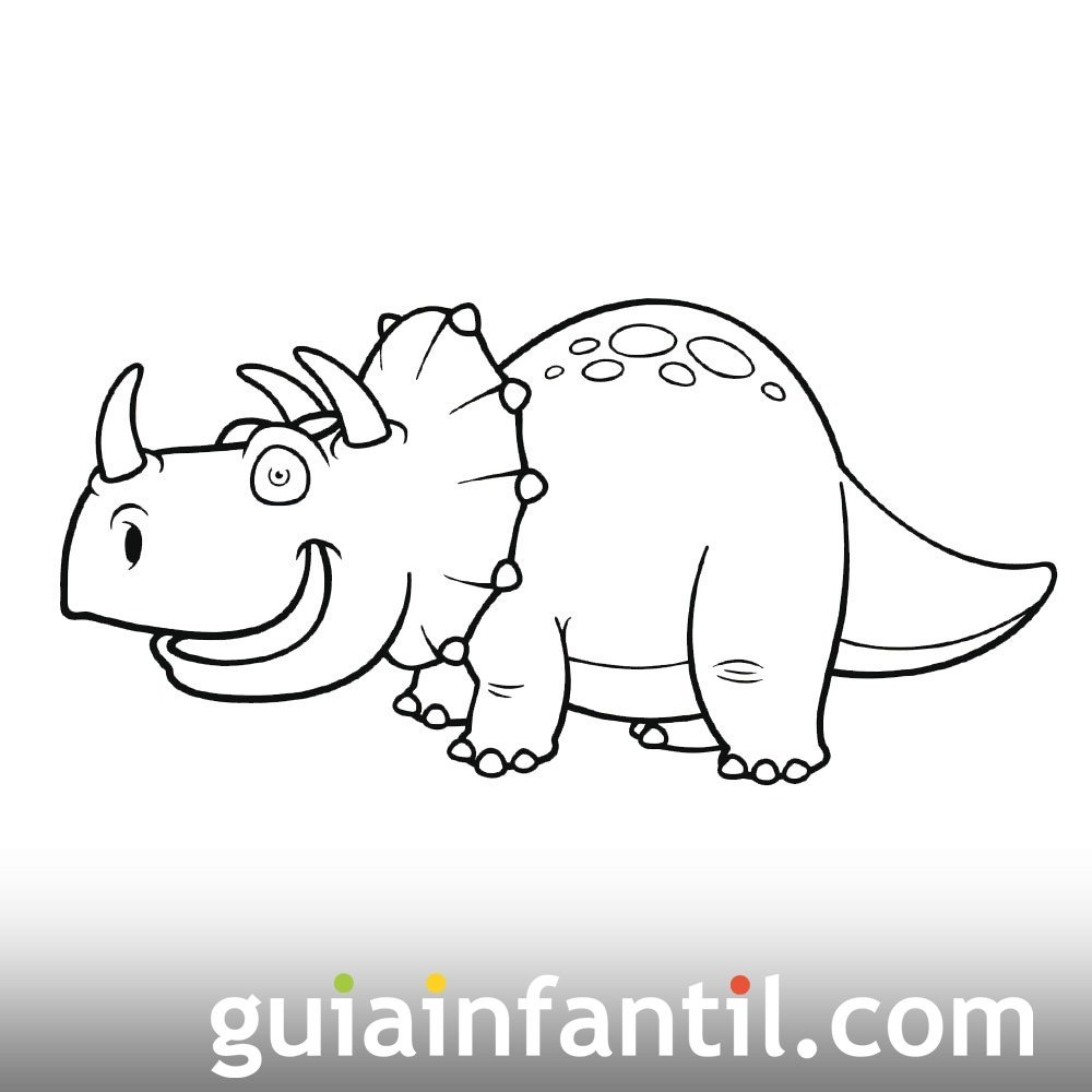 Dibujo de triceratops para ni os dibujos de dinosaurios - Dibujos infantiles de bebes ...