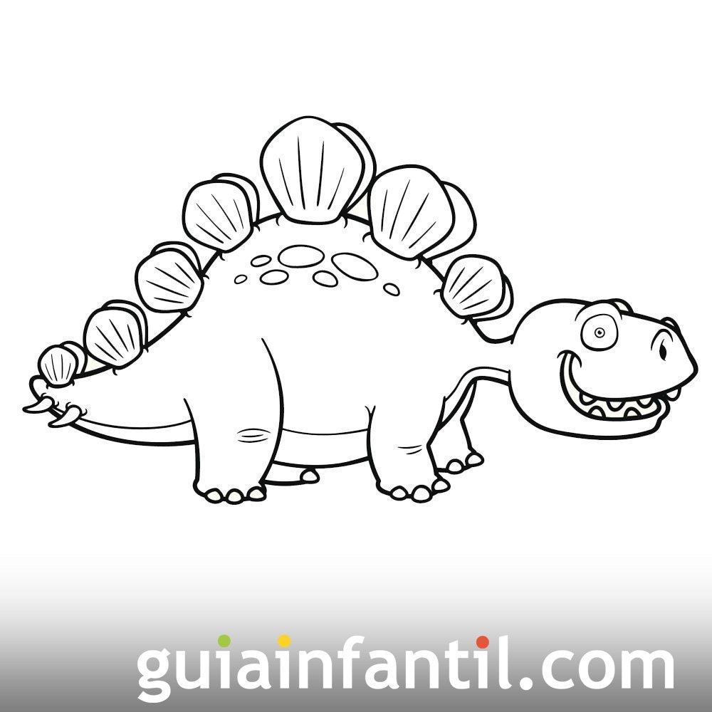 Dibujo de Stegosaurus para niños