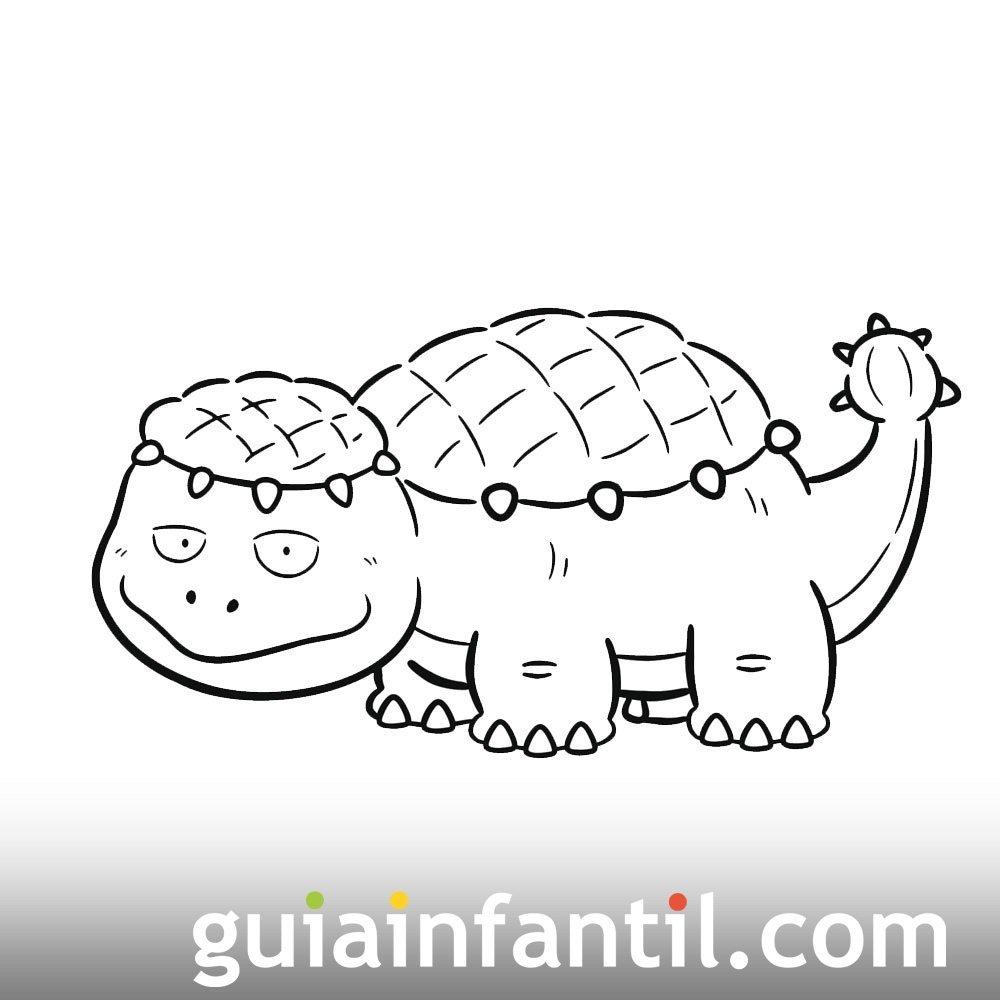 Dibujo de Saichania para niños