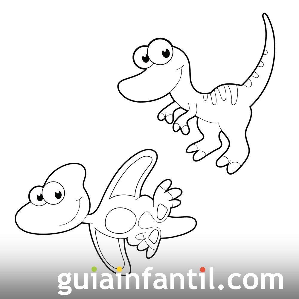 Dibujo de bebés de dinosauro