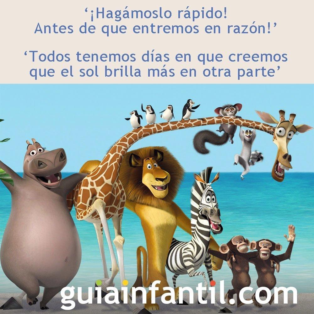 Frases de la película Madagascar