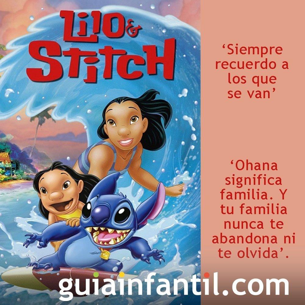Frases de de la película Lilo y Stich