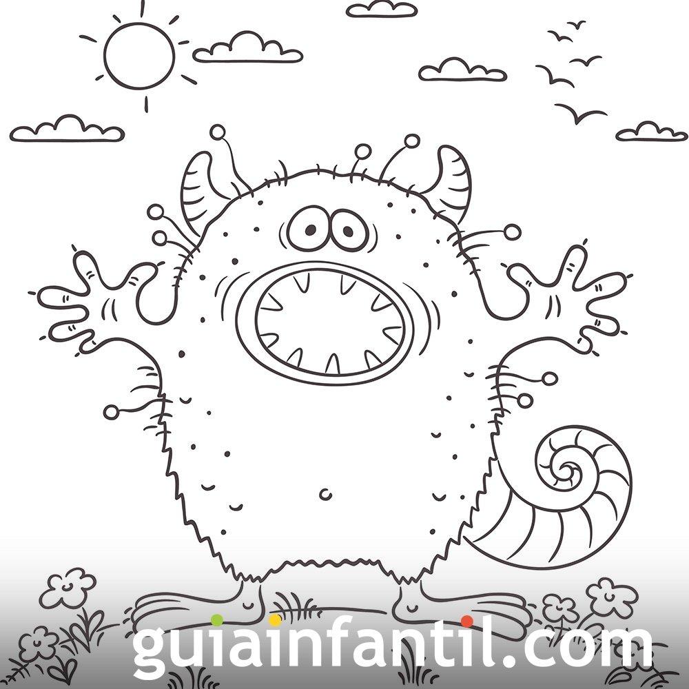 Dibujo de un extraterrestre para imprimir y colorear