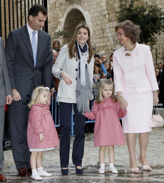 Leonor y Sofía son los nombres de las hijas de la Princesa Letizia
