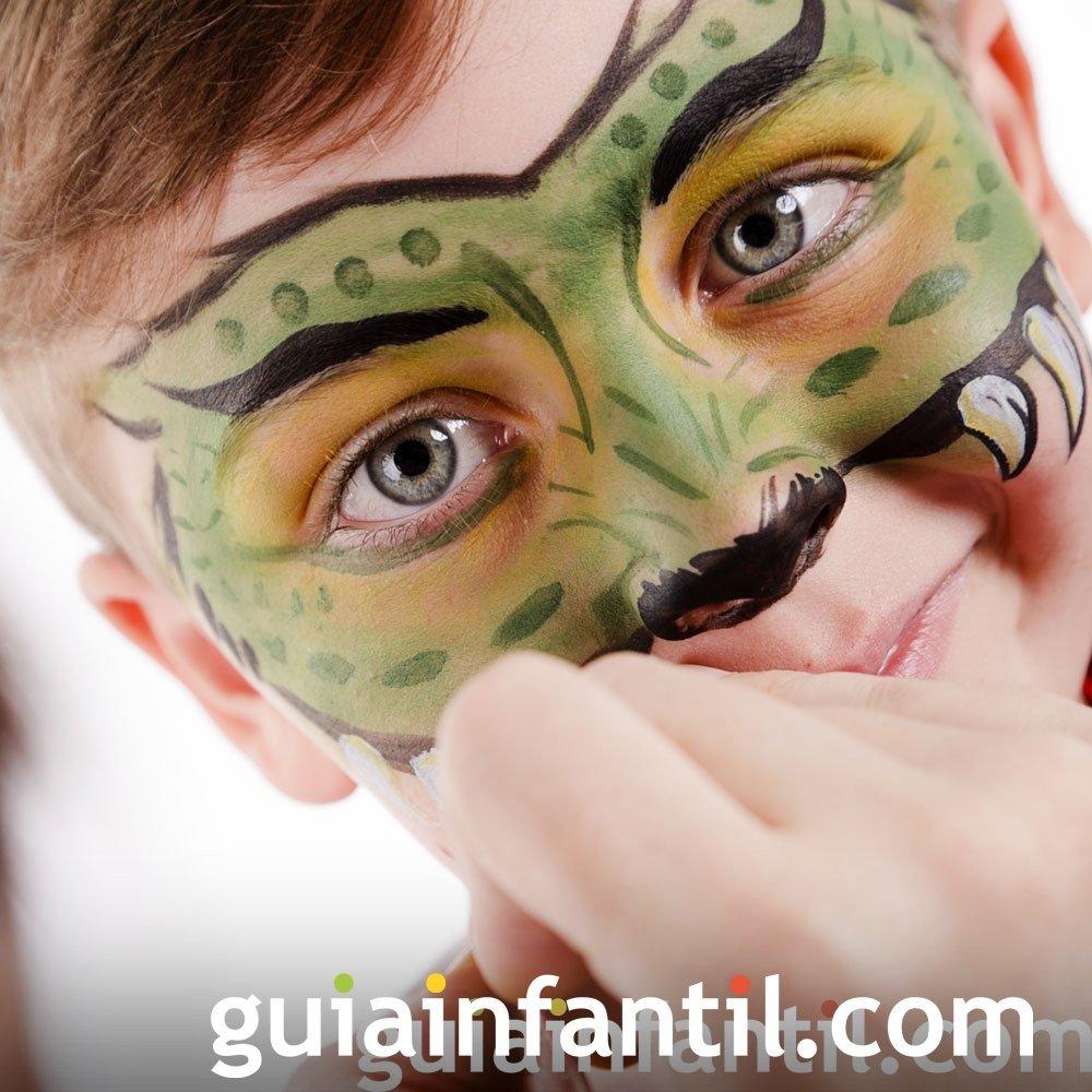Maquillaje de máscara de pantera para niños