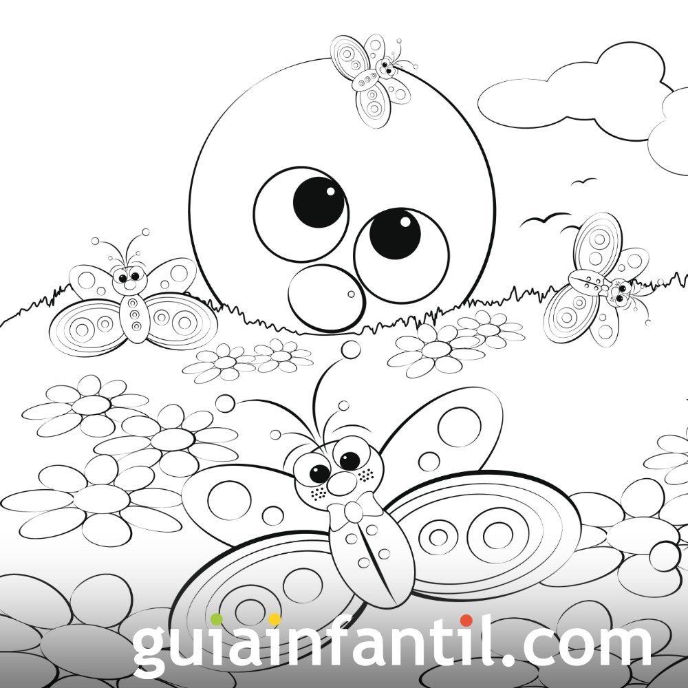 Primavera Dibujos Infantiles Para Colorear