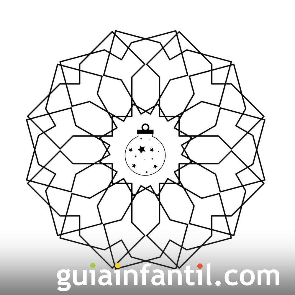 Formas geométricas con esfera navideña
