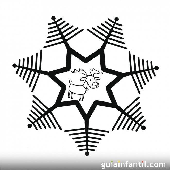 dibujo de rboles de navidad y reno