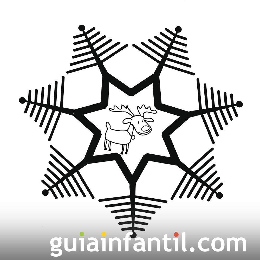 Dibujo de árboles de Navidad y reno