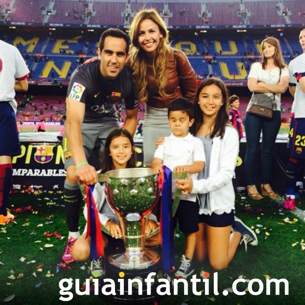Claudio Bravo y su mujer, Carla Pardo, tendrán su cuarto hijo