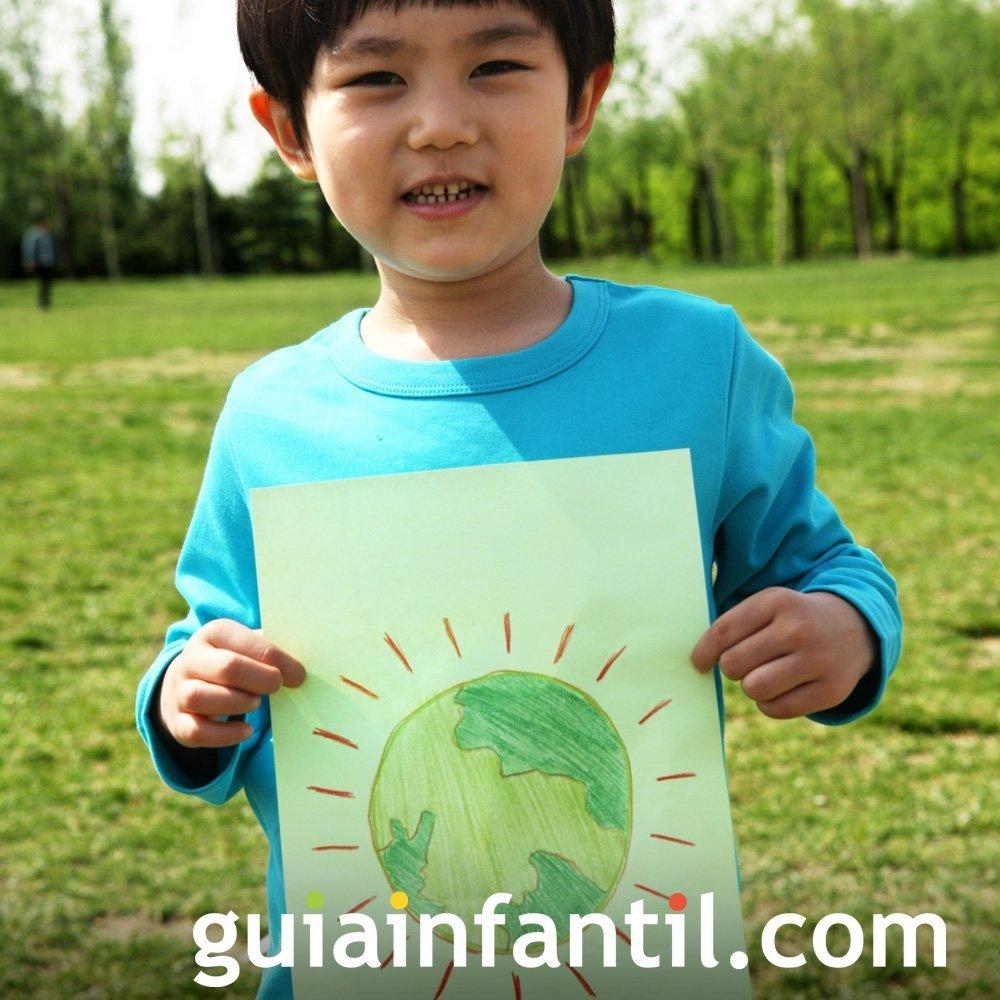 Invitar a los niños a dibujar la naturaleza