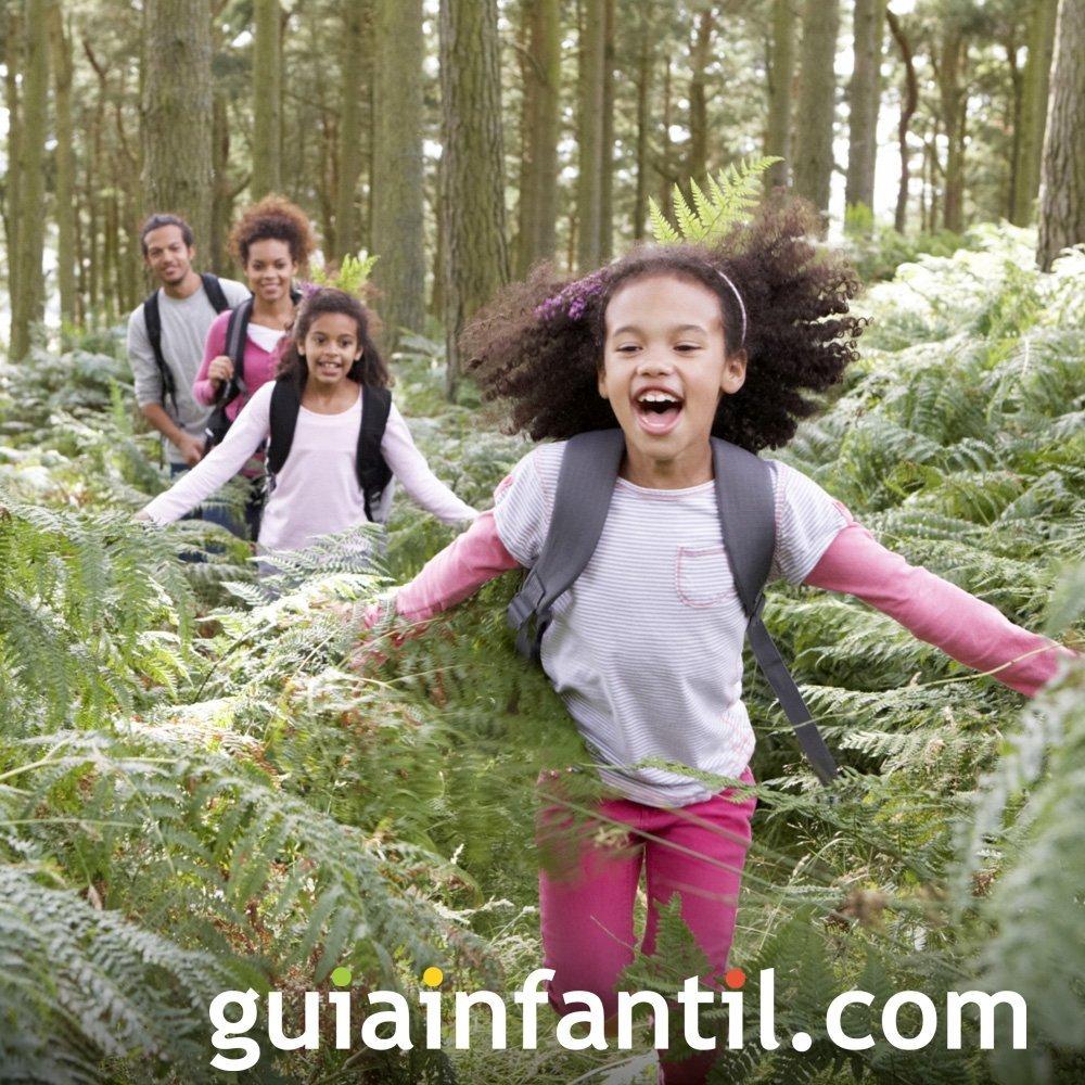 Pasear con los niños por la naturaleza