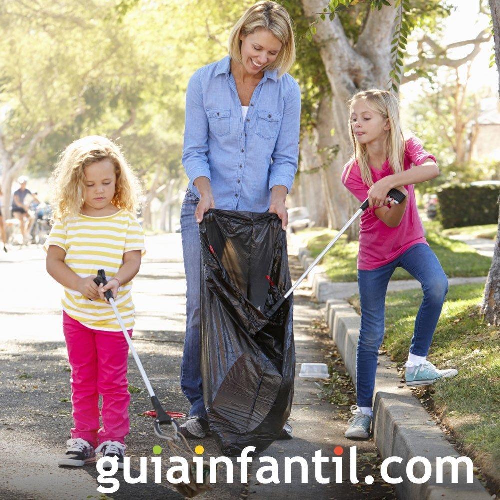 Educar a los niños a no ensuciar el medio ambiente