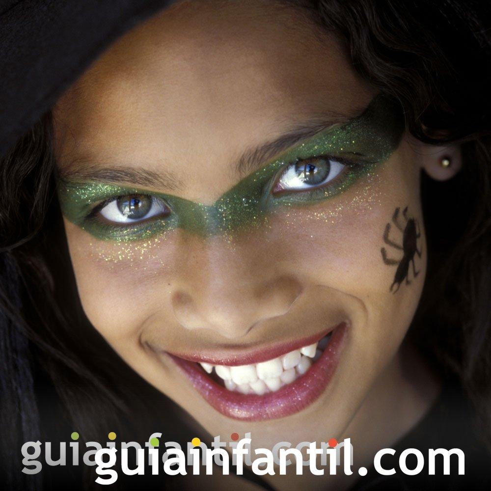 Maquillaje de máscara de bruja para los niños