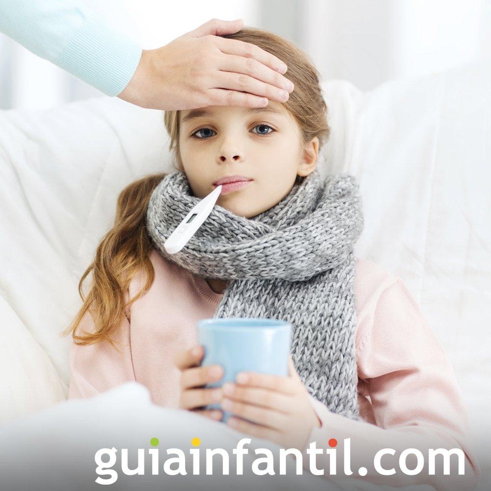 Catarro y gripe en bebés. Enfermedades infantiles comunes