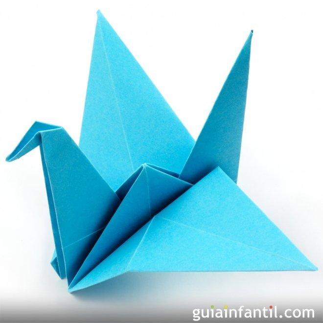 Manualidades de origami. Pájaros de papel