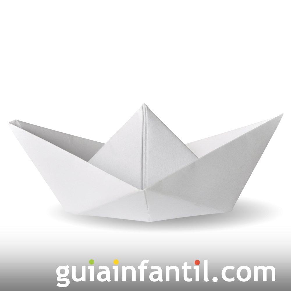 Hacer un barco de papel. Origami para niños