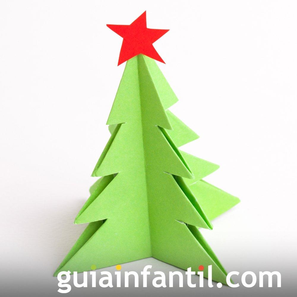 Manualidades de origami. Árbol de Navidad de papel