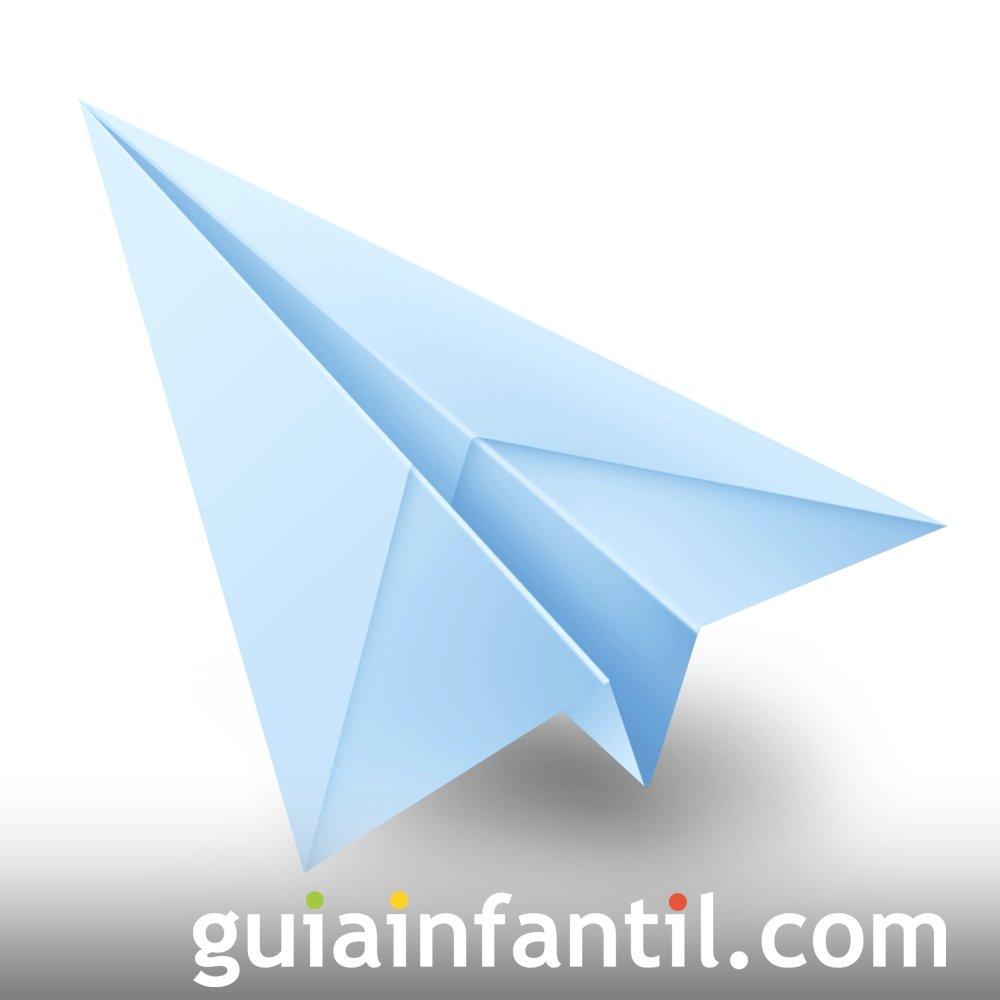 Hacer un avión de papel. Origami fácil para niños