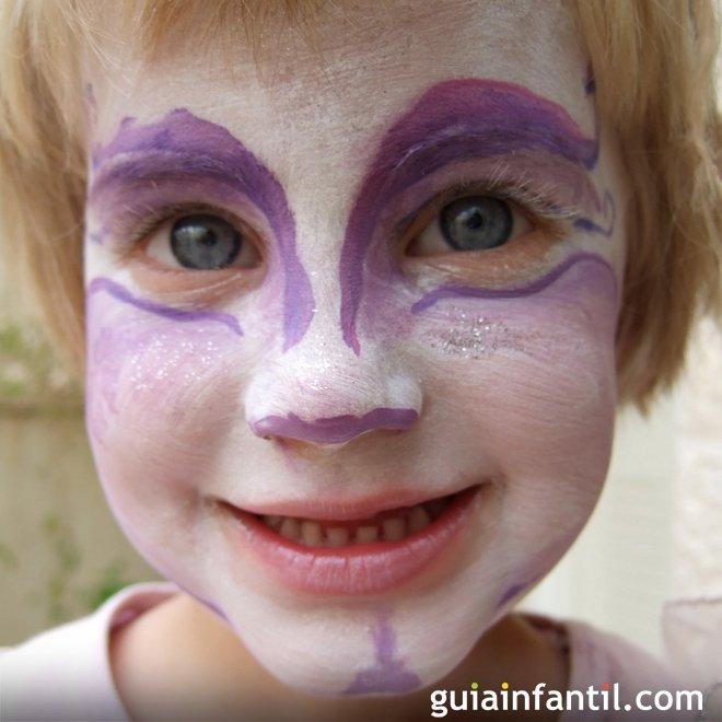 Maquillaje de hada morada