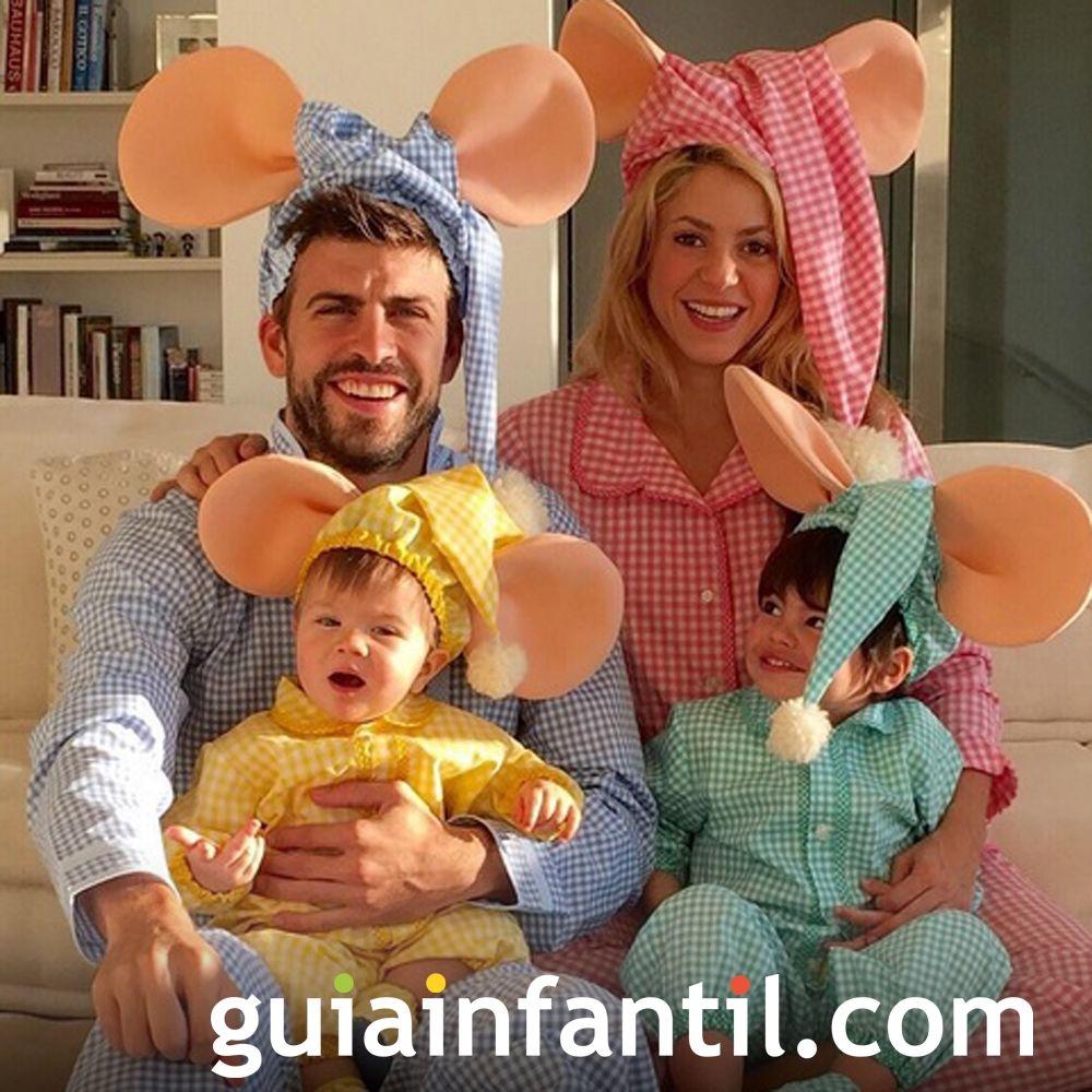 Shakira, con sus hijos Milan y Sasha