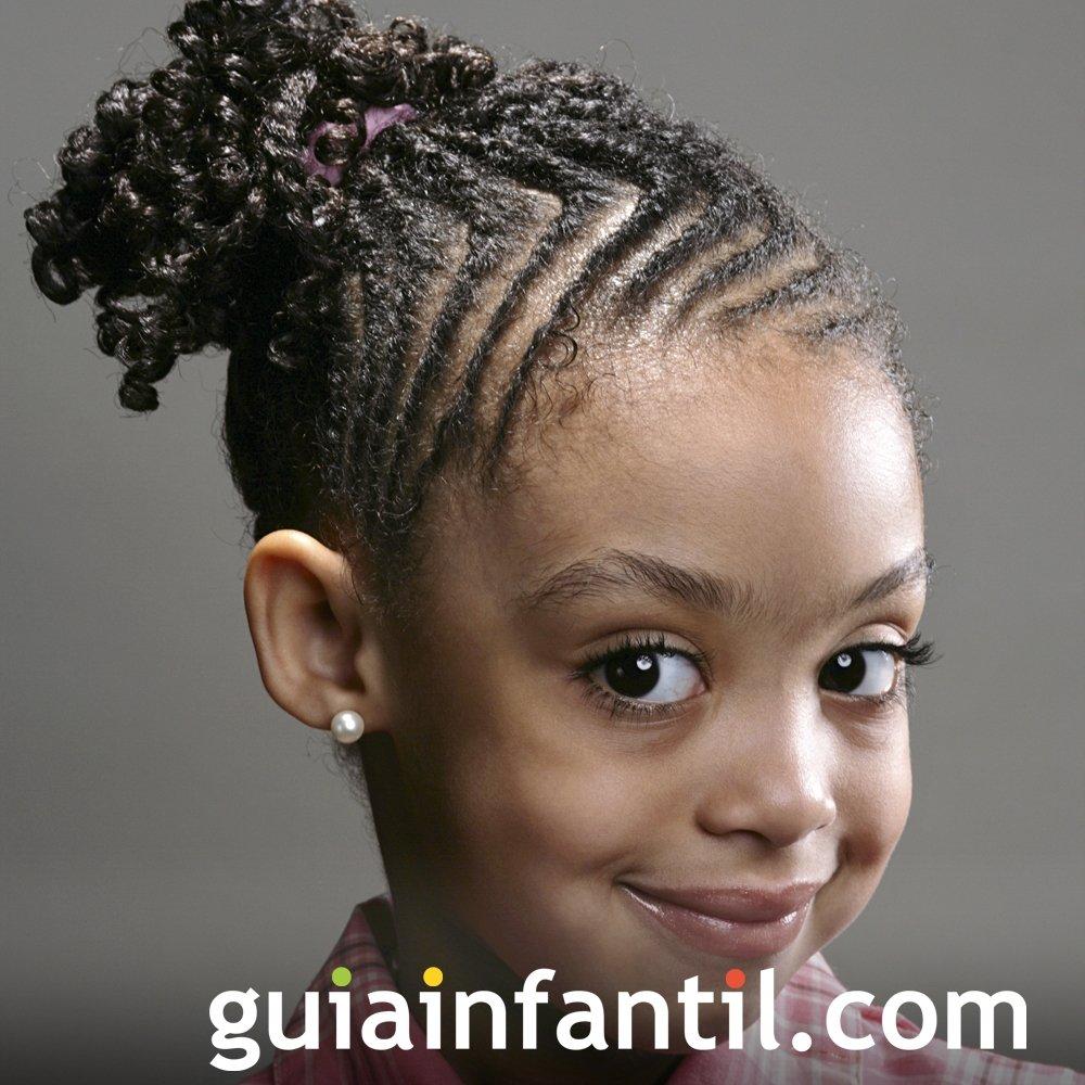 Peinado de trenzas horizontales para niña