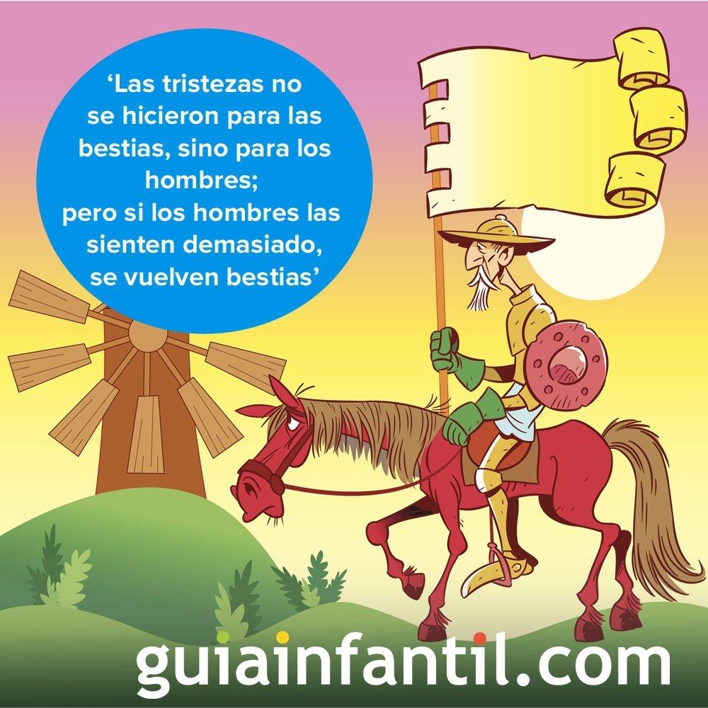 Don Quijote Habla De La Tristeza Frases Literarias Para Niños