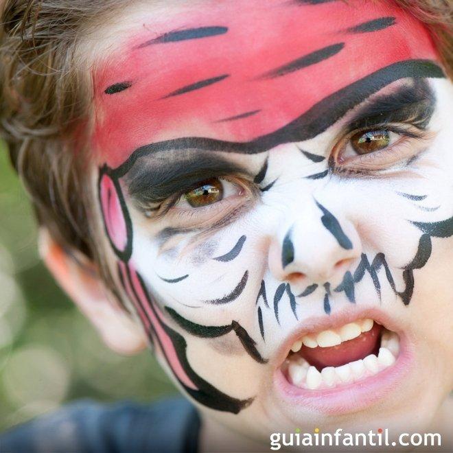 Maquillaje de pirata enfurecido