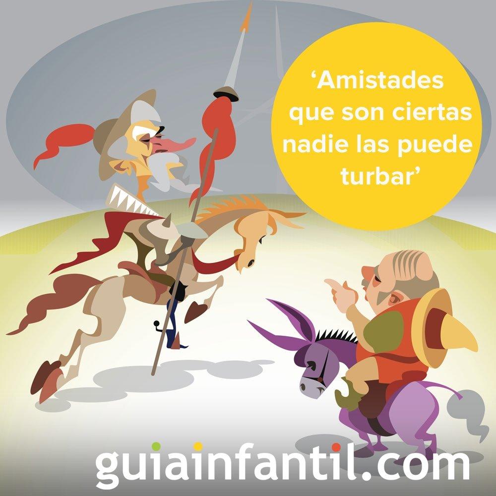 Don Quijote Habla Sobre La Amistad Frases Literarias Para Niños