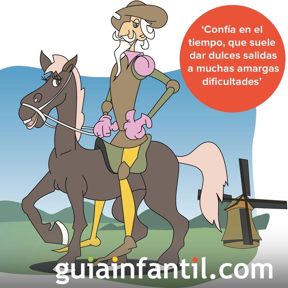 Don Quijote habla de la paciencia. Frases para niños de la literatura