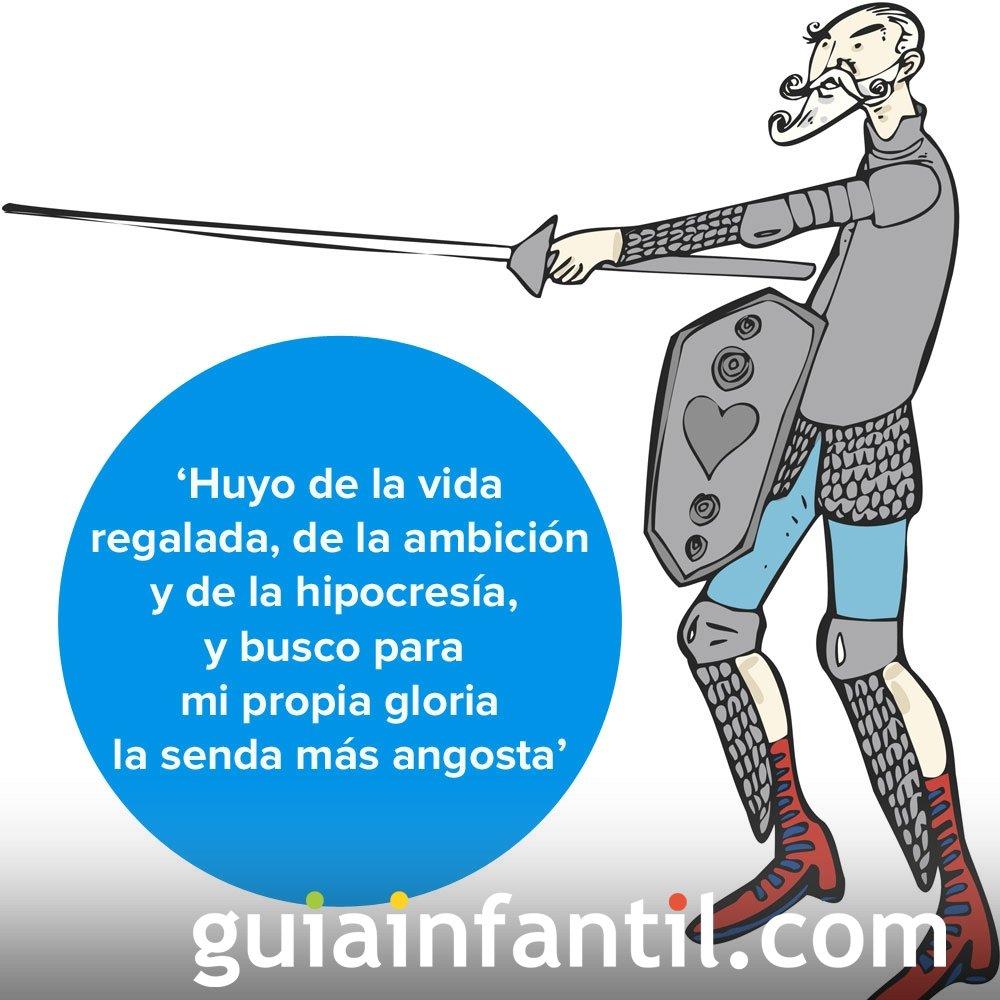 Caballero andante, una filosofía de vida. Frases de Don Quijote para niños