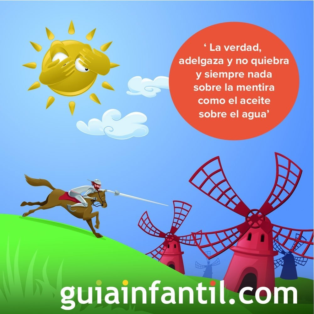 La sinceridad, un valor esencial. Frases de Don Quijote para niños