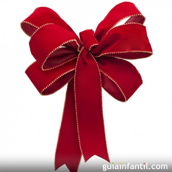 Lazo rojo para navidad - Lazos arbol navidad ...