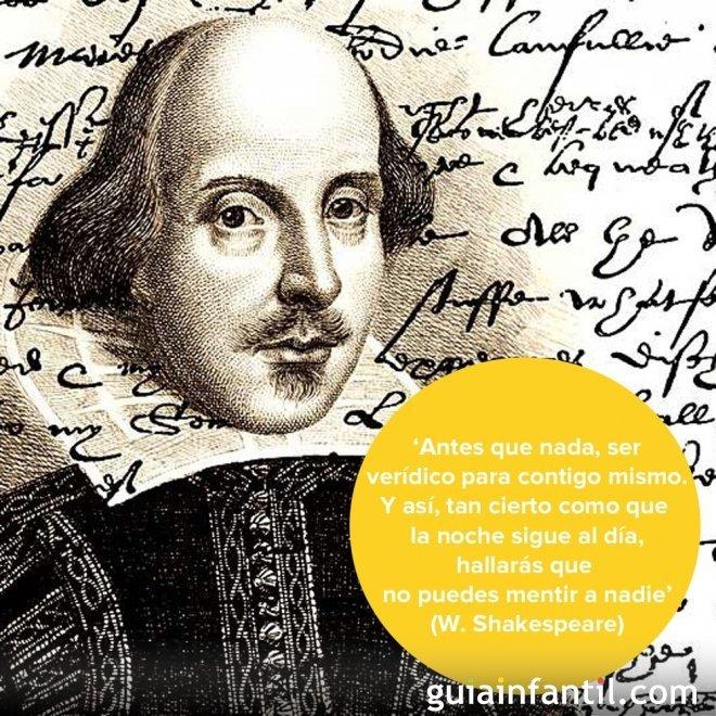 El valor de la sinceridad. Frases de Shakespeare para niños